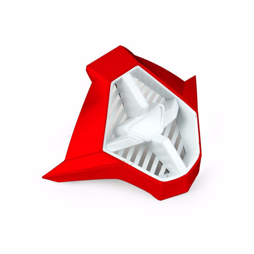 Biqueira Para Capacete Fly Trophy 2 - Vermelho / branco