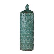 Vaso Turquesa Gd. Cerâmica Com Tampa. Vaso Empório Sierra