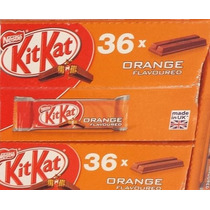 Caixa Chocolate Kit Kat Sabor Laranja Orange C/ 36 Barras