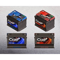 Bateria 60 Amperes Cral Nova Com Nota Fiscal 18 Meses De Gar