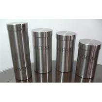 Conjunto De Potes Em Aço Inox Zack C Tampa Roscável