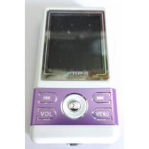 Mp4 Mp3 2g Fm Marca Digital Player Roxo Com Branco Nfe