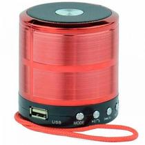 Caixa De Som Portátil Bluetooth Receptor Wireless Mp3 Usb Fm