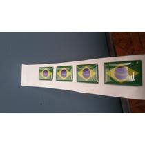 Adesivo Resinado Bandeira Do Brasil Placa Moto Vidro Carro