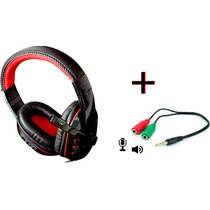 Fone De Ouvido Headset + Adaptador P2/p3 Pc Ps4 Celular Xbox