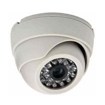 Câmera Cftv Vigilância Residencial Dome Branca 1000 Linhas