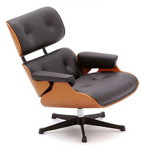 Miniatura Poltrona Lounge + Ottoman - Designer Charles Eames