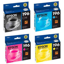 Kit 4 Cartuchos Epson 196 T196 Para Xp-401 Wf-2512 Wf-2532