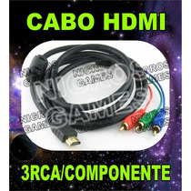 Cabo Hdmi Para 3 Rca Video Componente Pronta Entrega