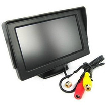 Tela Monitor Veicular Colorido 4.3 Lcd Para Camera Ré E Dvd