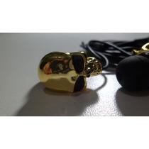 Fone De Ouvido Pequeno Caveira/crânio Dourado