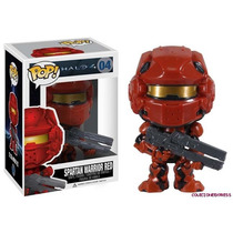 Boneco Funko Pop! Halo 4 Spartan Warrior Red Game Xbox Ps3