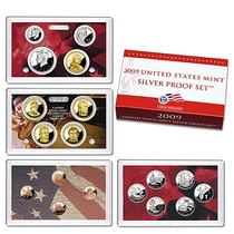United States Mint 2009 Silver Proof Set Moedas Dolar Prata