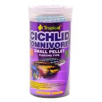 Ração P/ Peixe Cichlid Omnivore Small Pellet 90g Tropical