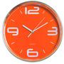 Relógio Parede Laranja Analógico 28cm Quartz Hercules #rel80