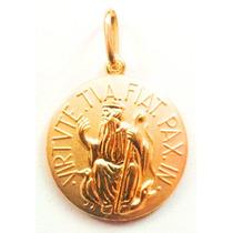 Decolar Joias Medalha São Bento Em Ouro 18k - 1.00grama