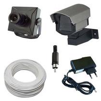 Kit Monitoramento 1 Mini Câmera De Segurança Completo P/ Tv