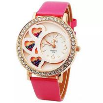 Relógio Pulso Cristal Mulheres Borboleta Pulseira Moda Luxo