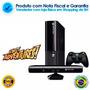 X Box 360 Com Kinect + 2 Jogos + Nota Fiscal E Garantia