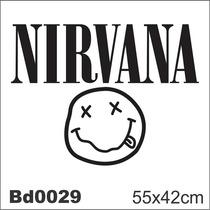 Adesivo Bd0029 Nirvana Rock Decoração Parede