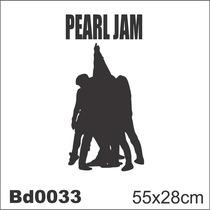 Adesivo Bd0033 Pearl Jam Ten Rock Decoração De Parede