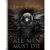 Caderno Universitário Capa Dura Game Of Thrones 10 Matérias