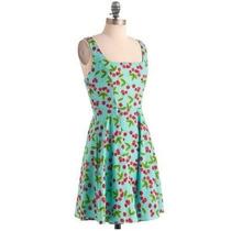 Vestido Rodado Vintage Cereja Cherry Pin Up 60s Novinho!