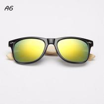 Óculos De Sol De Fibra De Bamboo Unissex