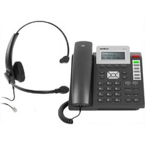 Kit Telefone Voip Ip Tip 200 + Headset Chs 50 Intelbras