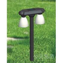 Luminaria Solar 4 Lampadas Leds Lumin Premium Jardim