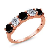 Black Diamond Anel De Ouro Rosa