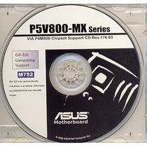 Cd Drivers Original Placa Mae Asus P5v800-mx Frete Gratis