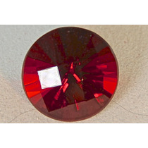 Rsp 756 Magnífica Opala De Fogo Vermelha Circular Impecável