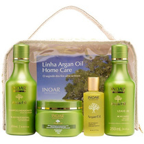 Kit Argan = Shampoo + Máscara + Leave-in + Óleo De Tratament