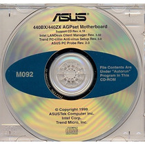 Cd Drivers Original Placa Mae Asus P2-99 Series Frete Gratis