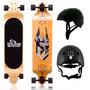 Skate Longboard Rebaixado Twodogs Bobcat D2 + Capacete Ajust