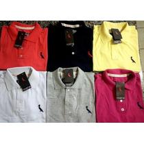 Kit 5 Camisas Polo Várias Marcas Várias Cores Atacado