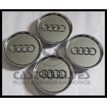 Jg Calota Miolo Centro Roda Original Audi A3 Cromada - 4 Pçs