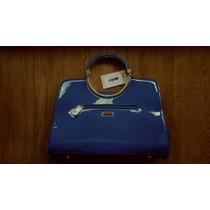 Bolsa Azul Royal Wj Feminina - Couro Sintético - Linda