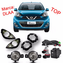 Kit Farol De Milha Nissan New March 2014 2015 2016 Top Dlaa