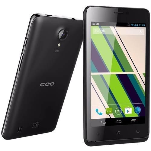 Smartphone Cce Motion Plus Sc452tv Preto Dual Chip 4mp Novo
