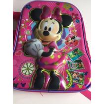 Mochila Grande Infantil Minie Mouse Disney 3d Escolar