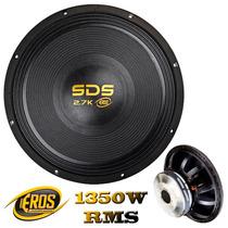 Woofer Eros Sds 2.7k Black 15´´ Polegadas 1350w Rms 4 Ohms