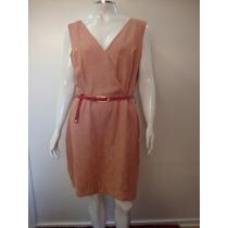 79-vestido Papoula C/ Cinto De Couro