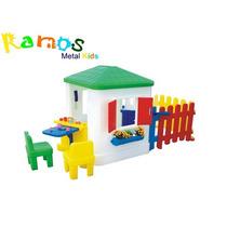 Casinha Com Cerquinha- Brinquedos De Plástico - Escorregador