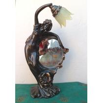 Luminaria Mulher Com Espelho De Petit Bronze ( Cod 117 )