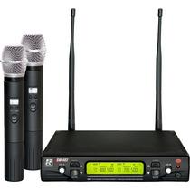 Microfone Sem Fio Staner, Modelo Sw-482 2 Mic