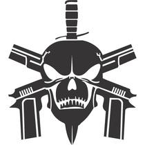 Adesivo Carro Bope Tropa De Elite Faca Caveira Skull