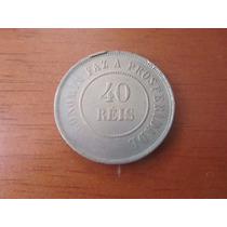 Moeda - Brasil - 40 Réis-1897 - República - Bronze - Mbc