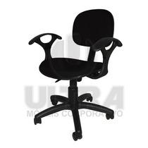 Cadeira Secretária Giratória Com Braço Ultra (preta)